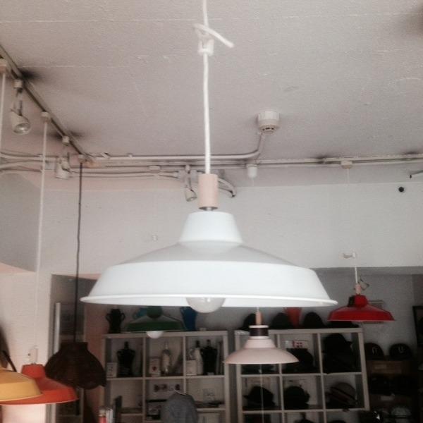 Gallerysselect iron shade pendant lampwhite mozeypictures Choice Image